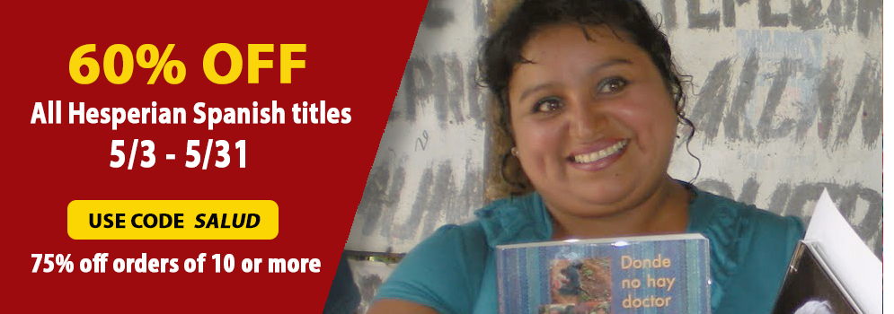 "Save big on Spanish titles throughout May with coupon code ""Salud"""
