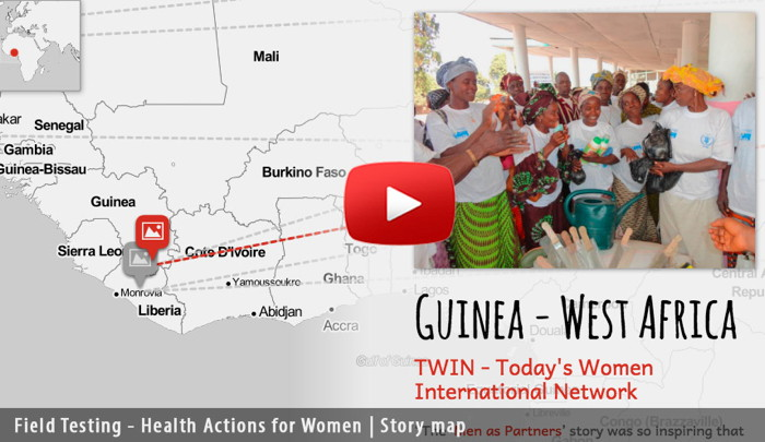 link to video about field-testing used for health actions for women